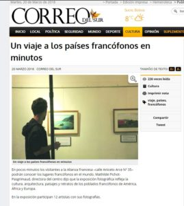 Alliance francaise Article expo laurence fischer