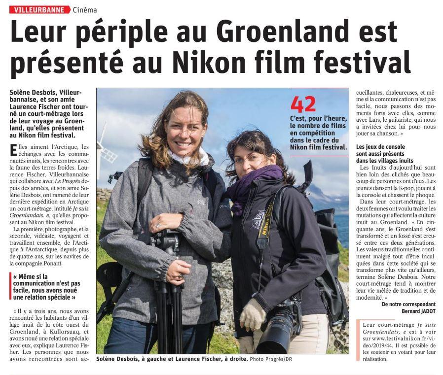 Festival Nikon - Je suis Groenlandais.e - Laurence Fischer et Solène Desbois